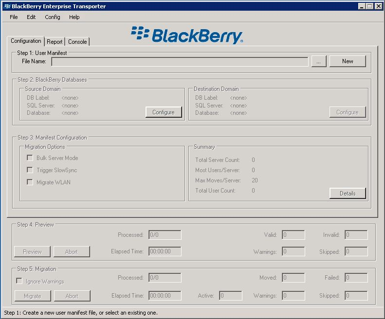 Blackberry Enterprise Transport Tool
