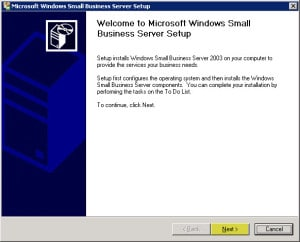 Uninstall Exchange 2003 from Small Business Server