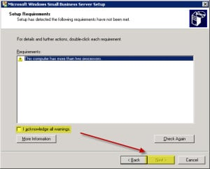 Uninstall Exchange 2003 from Small Business Server B