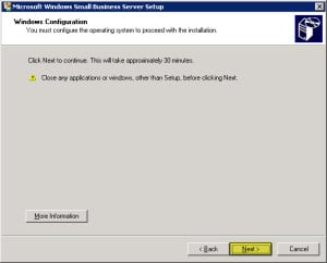 Uninstall Exchange 2003 from Small Business Server C