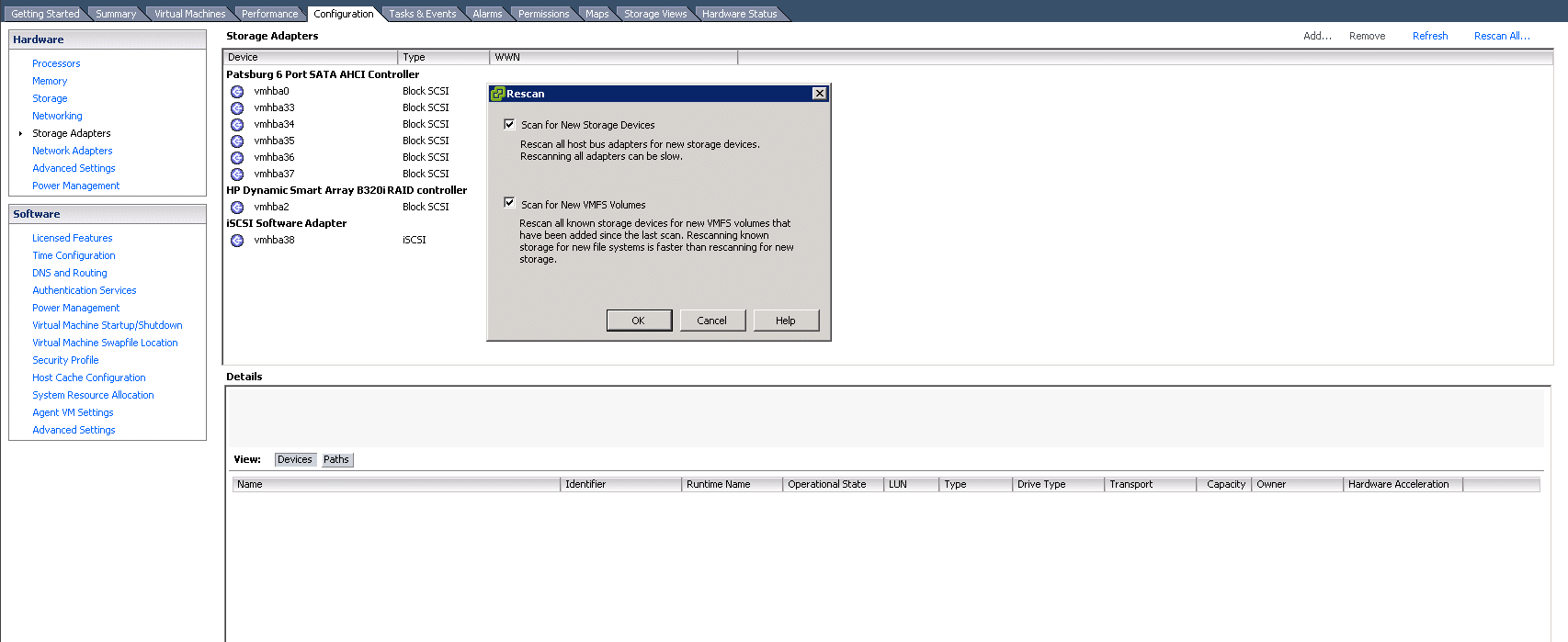 VMware ESXi Rescan All Storage