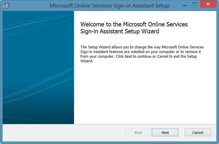 Online Services Sign-in Assistant Setup-1