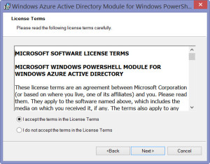 Windows Azure Active Directory Module for Windows PowerShell - 2