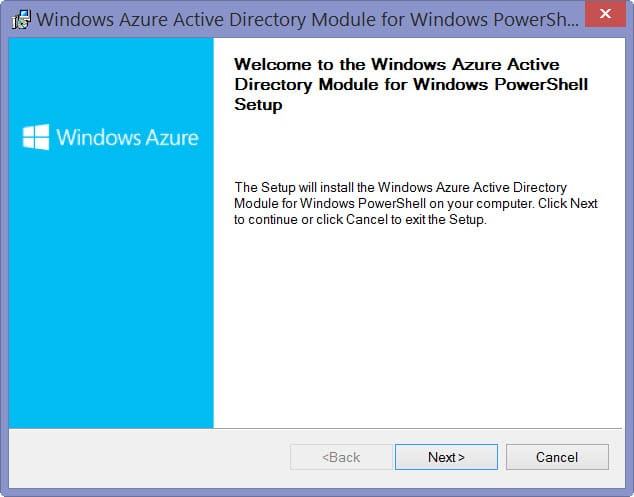 Beautiful Windows Azure Active Directory Module For Windows PowerShell