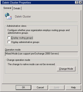 Exchange 2003 Mxied Mode