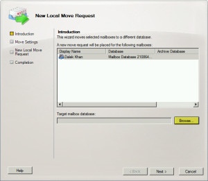 Exchange 2010 Local Move Request