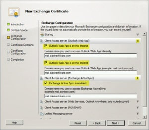 Exchange 2010 New Certificate Request B