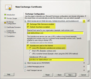 Exchange 2010 New Certificate Request C