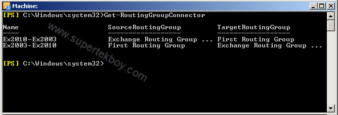 Exchange Management Shell Get-RoutingGroupConnector
