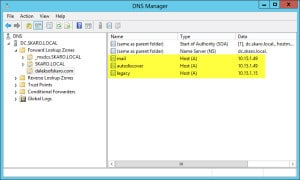 Server 2012 Split Brain DNS New Zone
