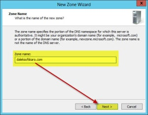 Server 2012 Split Brain DNS New Zone C