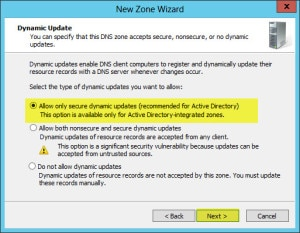 Server 2012 Split Brain DNS Secure Updates
