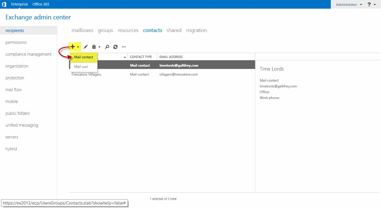 How to create public distribution list in outlook