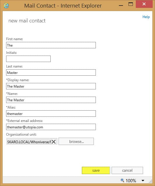 How to create an external distribution list in office 365