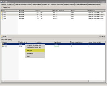Decommission an Exchange 2010 Database Availability Group (DAG) C
