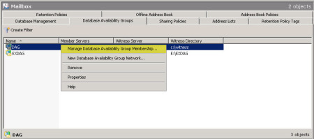 Decommission an Exchange 2010 Database Availability Group (DAG) G
