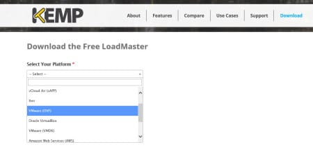 Kemp Virtual Load Balancer Download OVF
