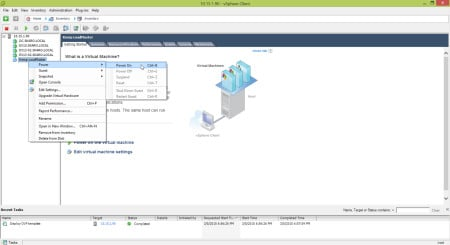 Kemp Virtual Load Balancer Power On