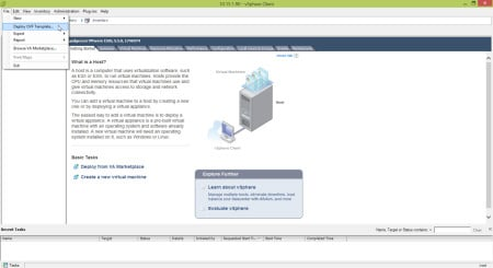 VSphere Client Deploy OVF Template