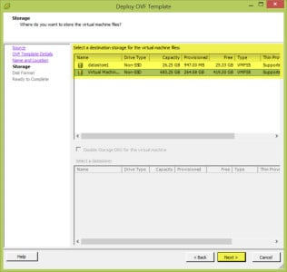 VSphere Client Deploy OVF Template C