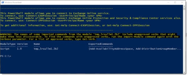 Exchange Online PowerShell Module - Multi-factor Authentication F