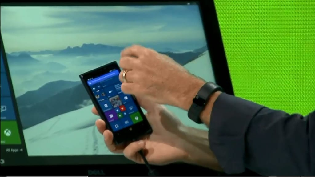 Microsoft Ignite Windows Phone 10 Continuum