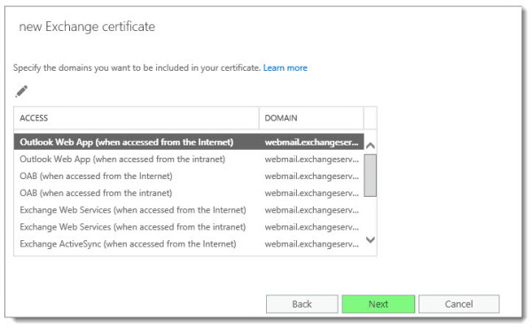 Generate a Certificate Request in Exchange 2016 F