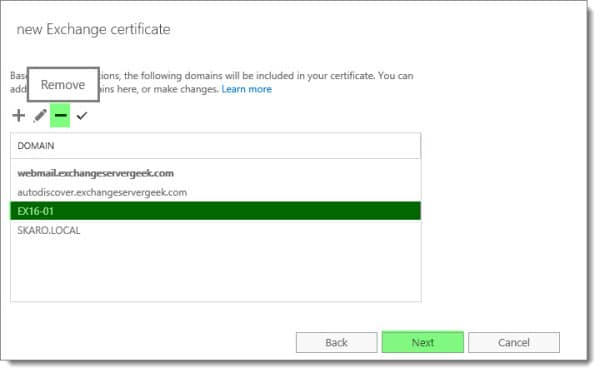 Generate a Certificate Request in Exchange 2016 G