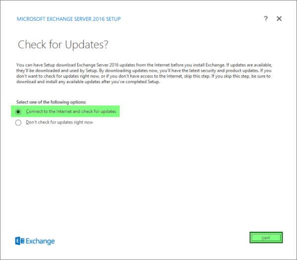 Installing Exchange 2016 A