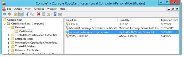 A special Rpc error occurs on server. Cannot import certificate. A certificate with the thumbprint already exists. C