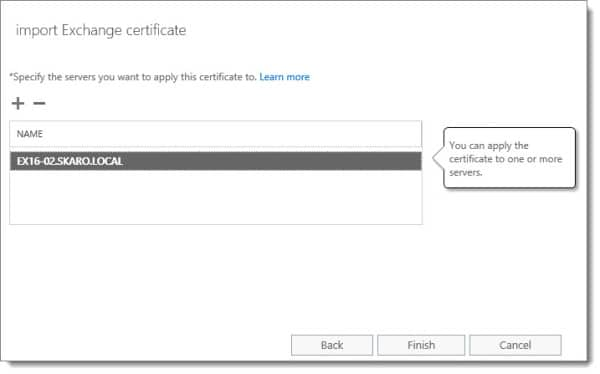 Export Import SSL Certificate Exchange Server 2016 G