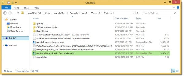 Outlook 2013 OST file location