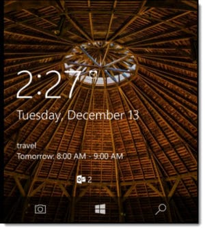 Windows Phone 10 Lock Screen Notifications A
