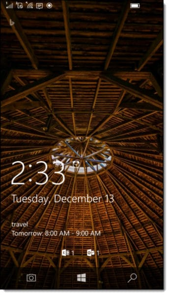Windows Phone 10 Lock Screen Notifications