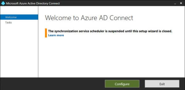 Azure AD Connect Configure