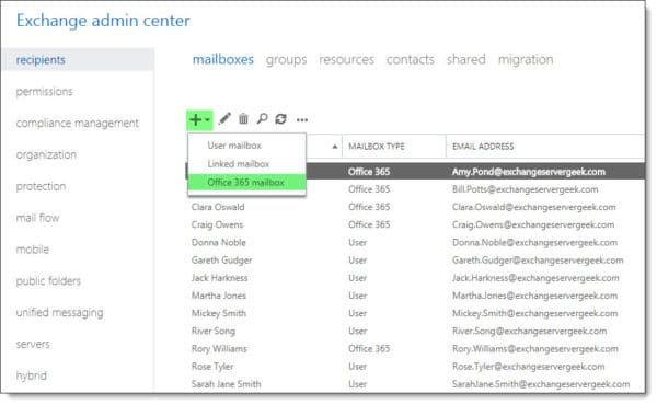 Create a new Office 365 mailbox