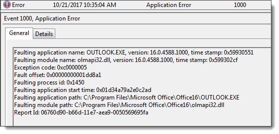 Outlook 2016 - OLEMAPI32.DLL Exchange TLS 1.0 disabled