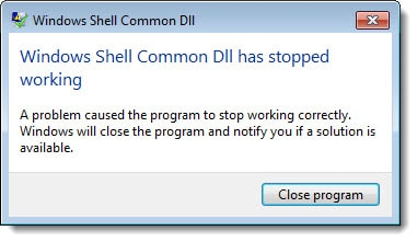 Outlook 2016 - Windows Shell Common DLL has stopped working