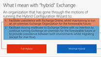 Running Exchange hybrid over the long term Microsoft Ignite
