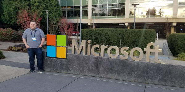 Gareth at Microsoft's Redmond Campus during the 2018 Global MVP Summit
