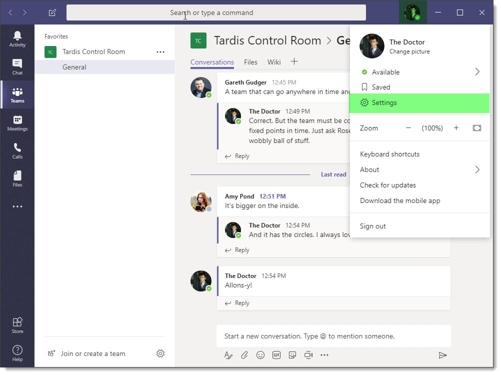 Enabling Dark Mode in Microsoft Teams 1