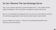 Why do we need to keep an Exchange Server on-premises when we move to the cloud