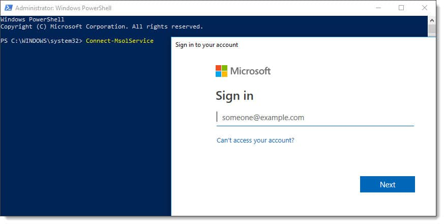 Connecting to Azure AD with Connect-MsolService and MFA enabled