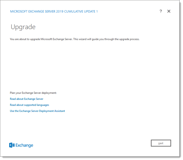 Exchange 2019 Cumulative Update 1