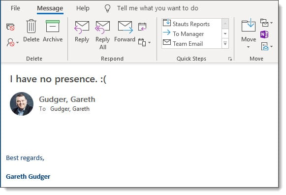 Missing Presence Data in Microsoft Outlook