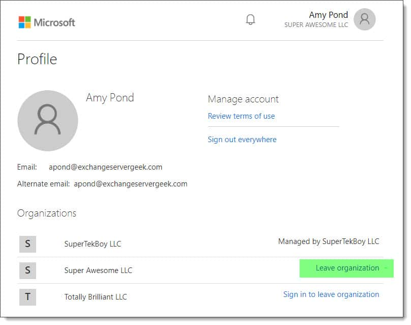 Remove your guest access to another Office 365 tenant D