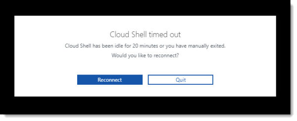 Cloud Shell Timeout Reconnection
