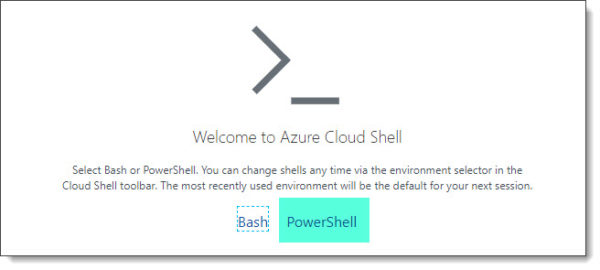 Cloud Shell PowerShell or Bash