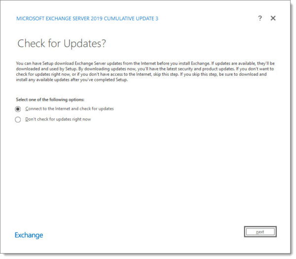 Exchange 2019 Cumulative Update 3