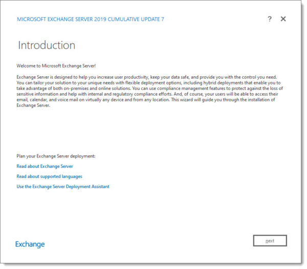 Exchange 2019 Cumulative Update 7